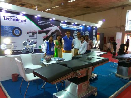 An Exhibition Stall of Technomed India