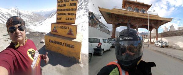 Vidhi Malla Ohri, solo biker from Leh to Delhi and back