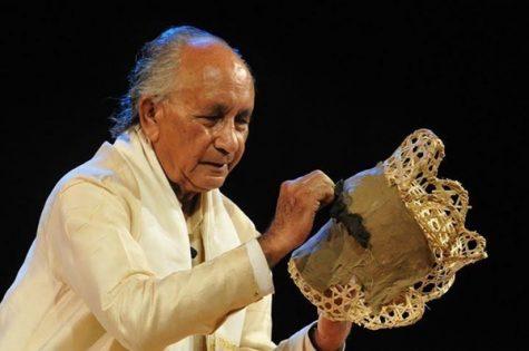 Rebakanta Mahanta creating a mask