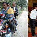 Karimul Haque and his bike ambulance
