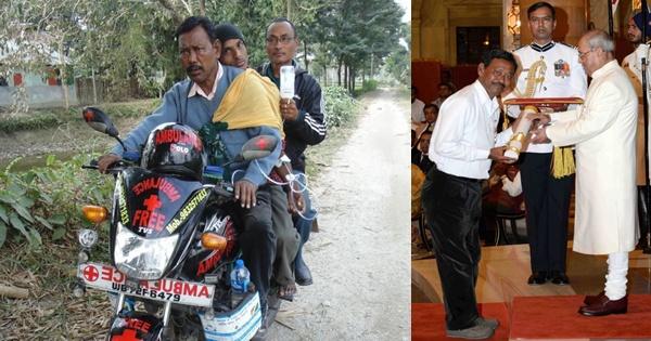 Karimul Haque and his bike ambulance