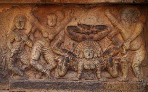 women practicing gymnastics in ancient India