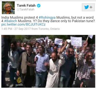 Tarak Fatah tweet