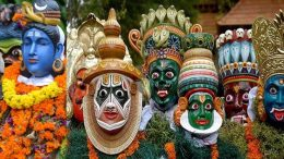 Onam Mask dance in Kerala