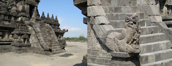 Makara staircase Candi Shiva, Prambanan
