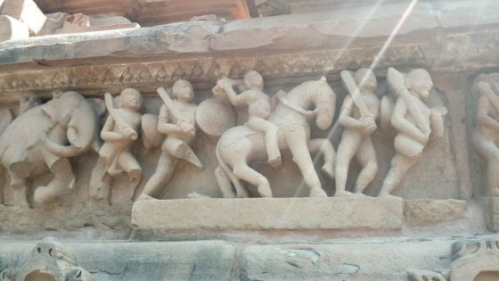 Sculptures in Khajuraho temple