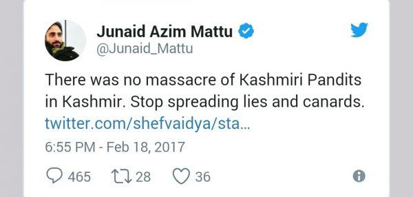 Kashmiri Pandits tweet