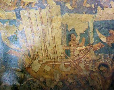 Three mast sail ship