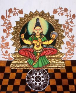 Pratyasha Nithin painting - Kolhapuri Lakshmi