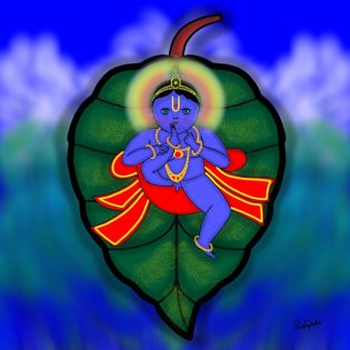 Pratyasha Nithin painting Baal Mukunda