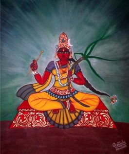 Pratyasha Nithin painting Rakta Chamundi