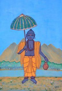 Pratyasha Nithin painting Vamanamurti