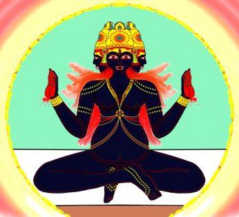 Pratyasha Nithin Painting Shatruvidhvamsini