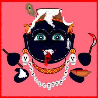 Pratyasha Nithin painting Krishna Kali