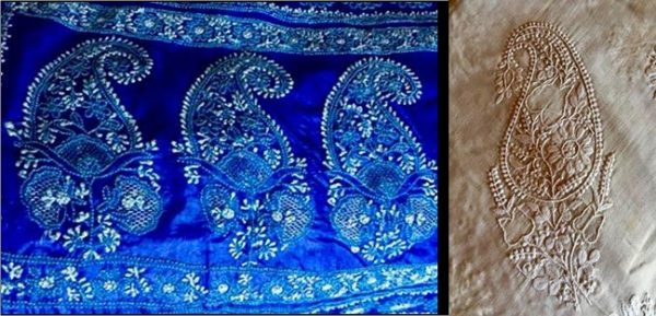 Chikankari with jaal work and murri