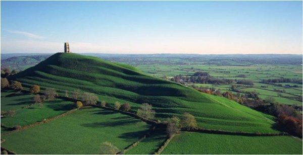 The lingam shape of England's Glastonbury Tor