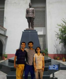 Picture with Netaji Statue