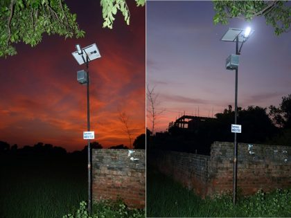 Solar lights installed by Obeetee in villages