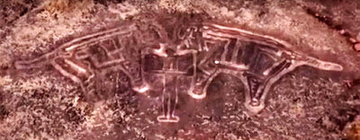 Petroglyph Ratnagiri Master of Animals BBC
