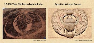 Petroglyph Ratnagiri Winged Scarab