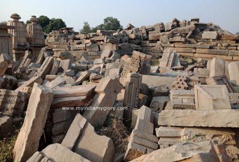 Ruins in Bateshwar temples site