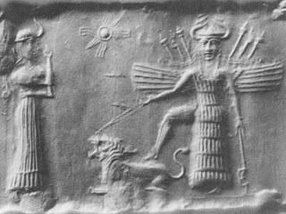 Inanna_and_Ninshubur - Ancient Akkadian cylinder seal