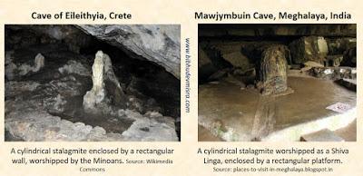 Indus Minoan cave stalagmite worship