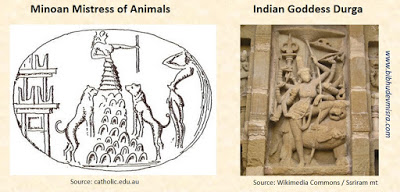 Indus and Minoan Lion Goddess