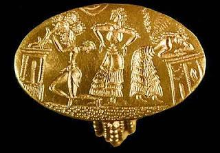 Minoan signet ring.