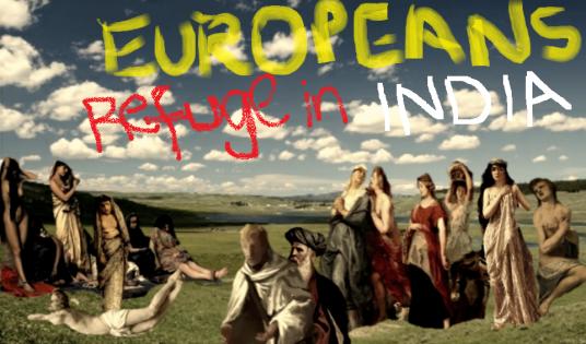 Europeans refuge in India
