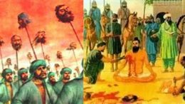 atrocities by Mughals