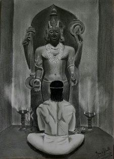 Heliodorus worshipping Vishnu