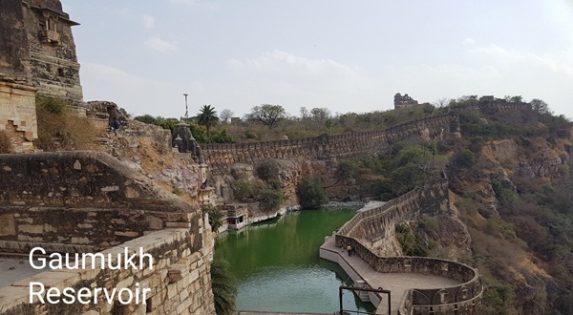 Chittor Fort Gaumukh reservoir