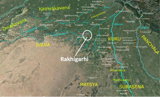 Rakhigarhi wider map