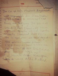 Col Dhillon's diary