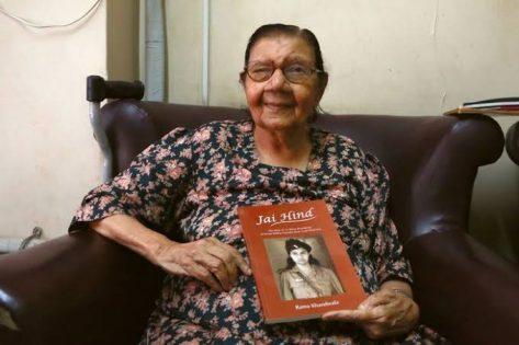 Lt Rama Mehta with book