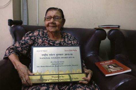 Rama Mehta with award