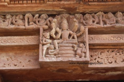 Vishnu in door lintel