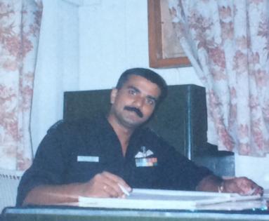 Sqn Ldr Sivamohan Vinod Kumar at camp