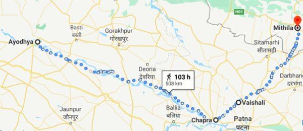 Ayodhya to Mithila