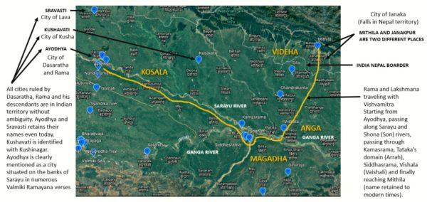map of Ayodhya