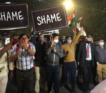 GD Bakshi protest