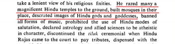 Aurangzeb brutalities