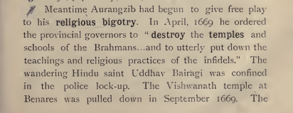 On Aurangzeb