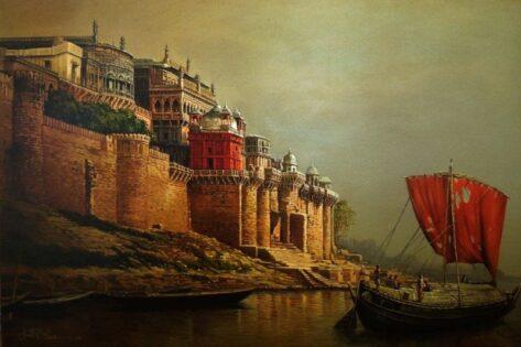 Banaras Ghat by Amit Bhar