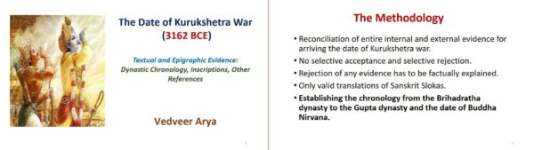 Date of Mahabharata war and methodology