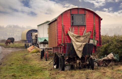 Caravans of the gypsies