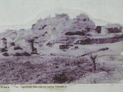 Nalanda University before excavations