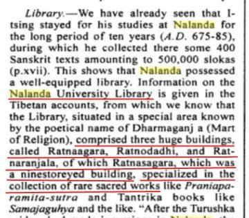 Nalanda libraries